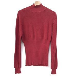 Peruvian Connection 100% Pima Cotton Mock neck L